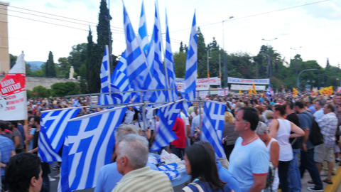 ATHENS - GREECE, JUNE 2015: protests view Footage