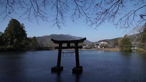 torii lake japan winter 鳥居 湖 山 ビデオ