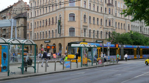 BUDAPEST - HUNGARY, AUGUST 2015: tram in daily traffic Footage