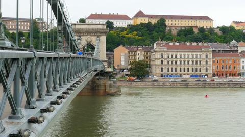 Chain Bridge view, Budapest, 4k Footage