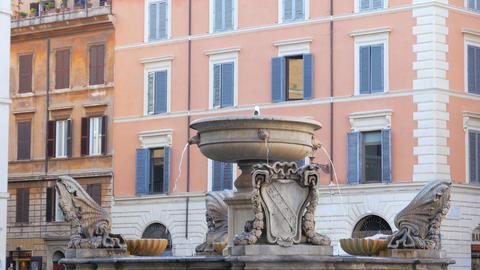 Italian Fountains, Rome, Italy stock footage