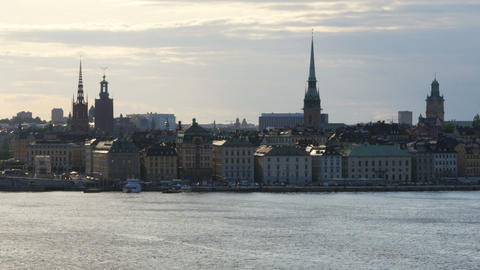 stockholm old city view at sunset, sweeden Footage