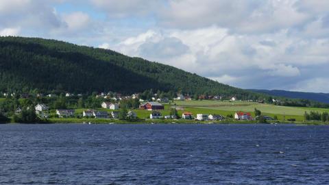 randsfjorden lake near oslo, norway Footage