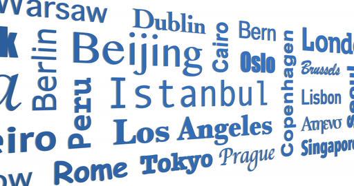Mosaic of cities names - Loop Image