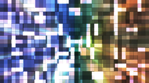 Broadcast Twinkling Squared Hi-Tech Blocks, Multi Color, Abstract, Loopable, 4K CG動画素材