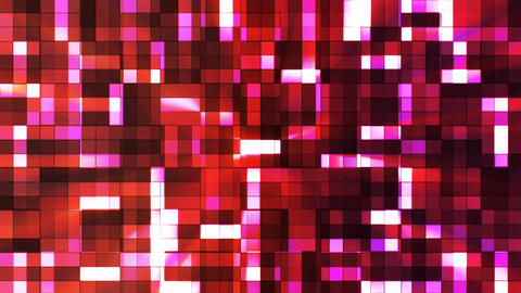 Broadcast Twinkling Squared Hi-Tech Blocks, Maroon, Abstract, Loopable, 4K CG動画素材
