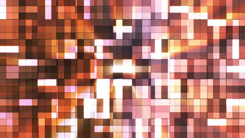 Broadcast Twinkling Squared Hi-Tech Blocks, Brown, Abstract, Loopable, 4K CG動画素材