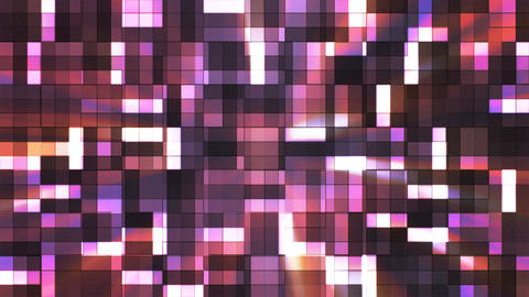 Broadcast Twinkling Squared Hi-Tech Blocks, Purple, Abstract, Loopable, 4K CG動画素材