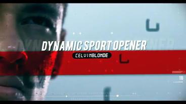 Dynamic Sport Slide After Effectsテンプレート