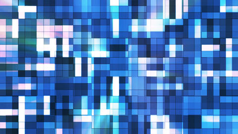 Broadcast Twinkling Squared Hi-Tech Blocks, Blue, Abstract, Loopable, 4K CG動画素材