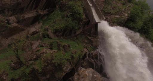 Powerful Manmade Waterfall Footage