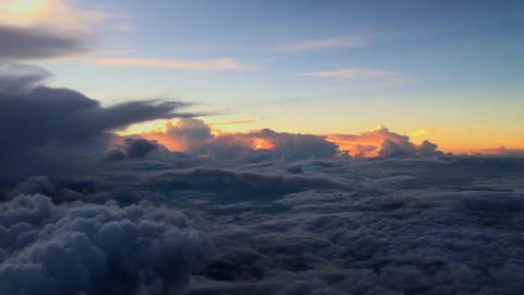 Aerial View Flying Above the Cloud Footage