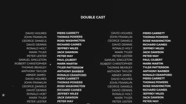 Film Credits After Effects Templates