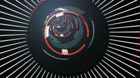 Loop Vj Futuristic Tunnel Animation