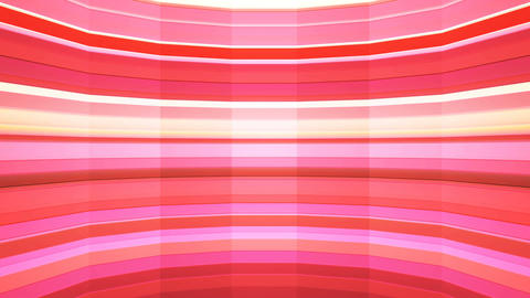Broadcast Twinkling Horizontal Hi-Tech Bars Shaft, Red, Abstract, Loopable, 4K Animation