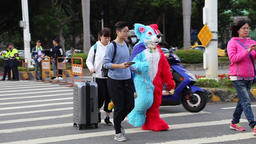 Colorful dressed up fox at Taipei Gay Pride 2017 Taipei Taiwan 画像
