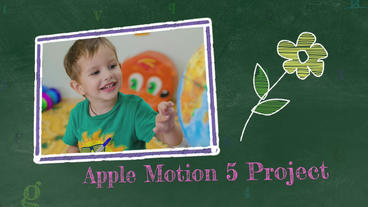 School Days: Template for Apple Motion 5 and Final Cut Pro X Apple Motionテンプレート