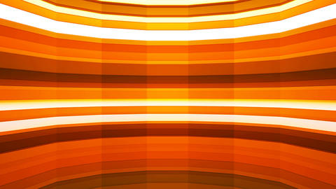 Broadcast Twinkling Horizontal Hi-Tech Bars Shaft, Orange, Abstract, Loopable, CG動画素材