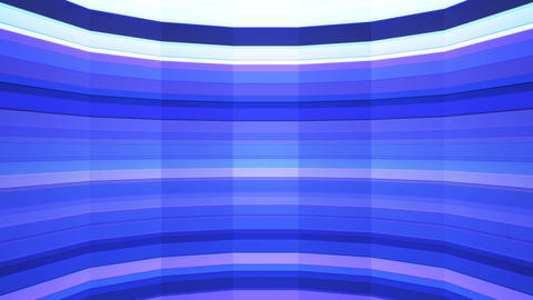 Broadcast Twinkling Horizontal Hi-Tech Bars Shaft, Blue, Abstract, Loopable, 4K Animation