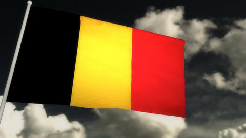 Flag Belgium 02 Animation