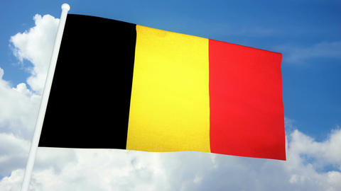 Flag Belgium 03 Animation