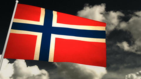 Flag Norway 02 Animation