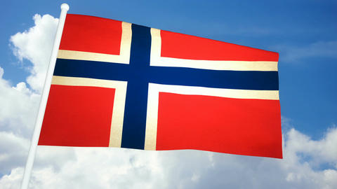 Flag Norway 03 Animation