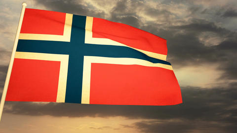 Flag Norway 04 Animation