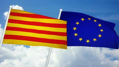 Flag Catalonia-Europe 03 Animation