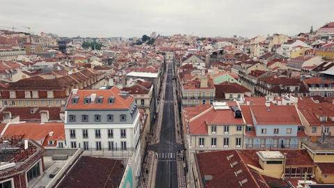 Lisbon from a bird's eye view Footage