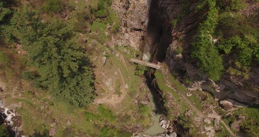 Flying Over Rocky Mountainous Terrain Footage