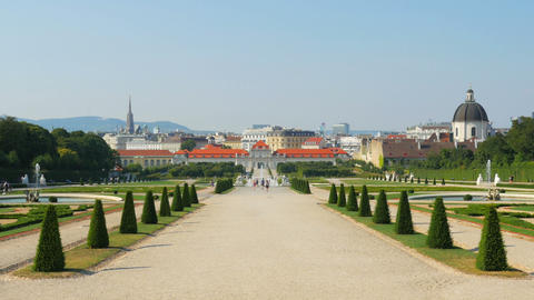 belvedere palace, vienna, austria, 4k Footage