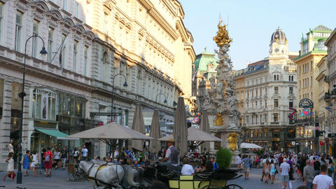 VIENNA - AUSTRIA, AUGUST 2015: daily life view Footage