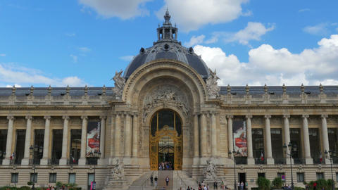 PARIS - FRANCE, AUGUST 2015: petit palais, small palace view Footage