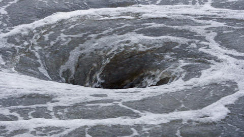 view of natural whirlpool in water Footage