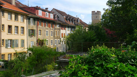 apartments at swiss downtown, switzerland Footage
