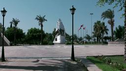 Turkey the Aegean Sea Turgutreis 032 square with founders monument Footage