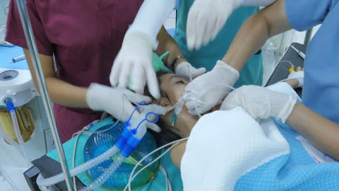 ISTANBUL - TURKEY, AUGUST 2015: child surgery operation in hospital Footage