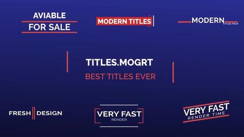 .MOGRT/ BEST Pack Of Premier Pro Templates