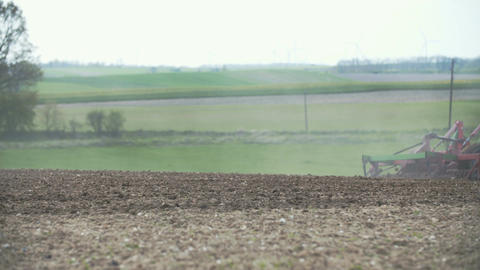 Cultivating background. Harvesting field. Agricultural... Stock Video Footage
