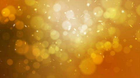 4K gold abstract abstract background with snow flake and blur bokeh and lighting Live Action