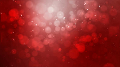 4K red abstract abstract background with snow flake and blur bokeh and lighting Live Action