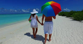 v12624 two 2 people walking romantic young people couple holding hands on a Live Action