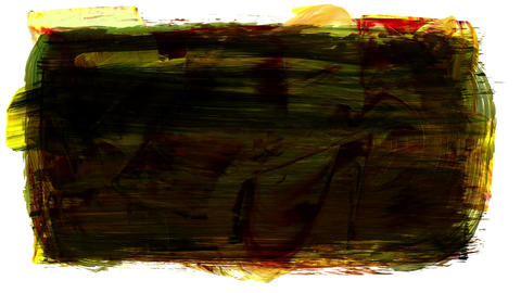 Animation grunge - brush stroke. Abstract hand - painted element Animación
