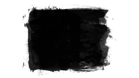 Animation grunge - brush stroke. Abstract hand - painted... Stock Video Footage