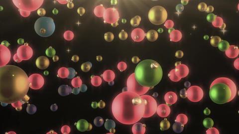 Christmas Tree Ball or Bauble in a shiny beautiful glitter look 4K Loop Animación