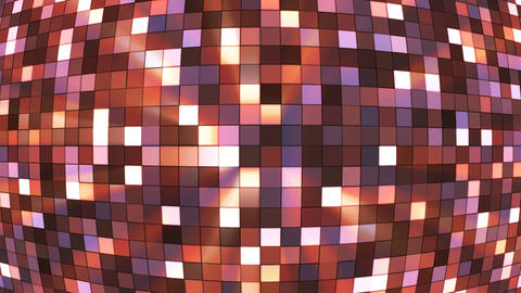 Broadcast Twinkling Hi-Tech Squares Globe, Brown, Abstract, Loopable, 4K Animation