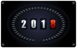 Countdown timer on speedometer - New Year 2018 ベクター