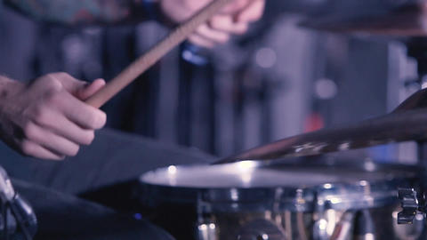 Drummer Hand Silhouette With Drumstick Footage