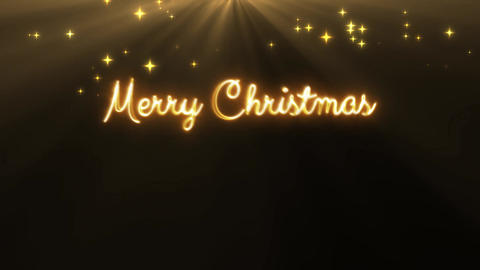 Merry Christmas and a happy new year 4k loop gold CG動画素材